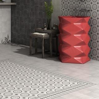 SomerTile 5.875x5.875-inch Guild Antracita Cenefa Ceramic Floor and Wall Tile (22/Case, 5.5 sqft.)
