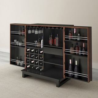 Furnitech 36-inch Free Standing Walnut Bar
