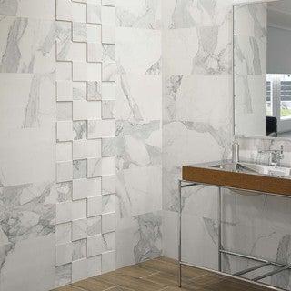 SomerTile 14.625x29.5-inch Olympus Blanco Porcelain Floor and Wall Tile (30 tiles/92.2 sqft.)
