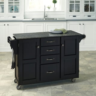 Create-a-Cart in Satin Black Finish by Home Styles
