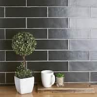 SomerTile 3x12-inch Gloucester Matte Nero Ceramic Wall Tile (22 tiles/5.5 sqft.)