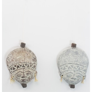 Pair of Wise Men Ceramic Ornaments (Ghana)