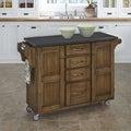Gracewood Hollow Defoe Warm Oak Finish Kitchen Cart