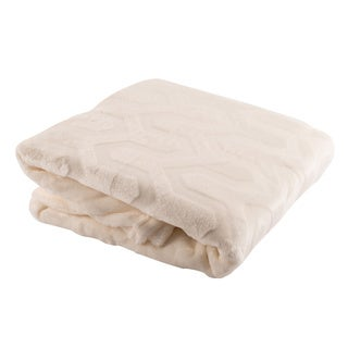 Cozy and Plush Oversized Embossed Throw