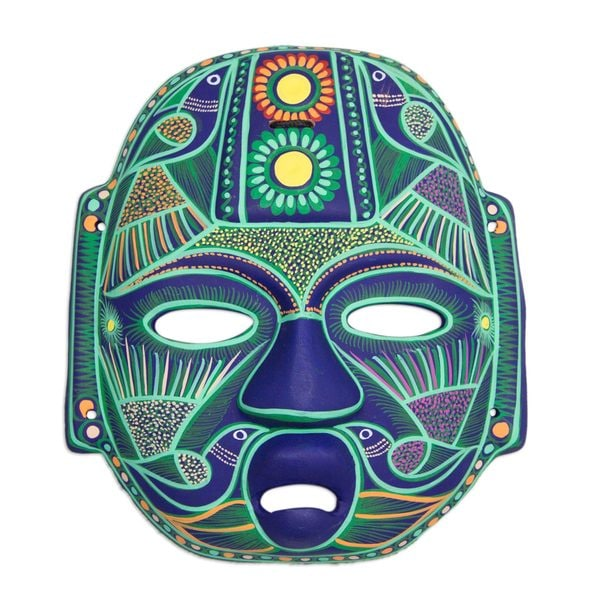 Jade Olmec Lord Ceramic Mask (Mexico)