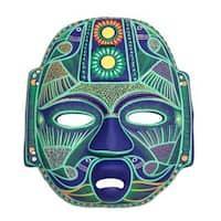 Jade Olmec Lord Ceramic Mask (Mexico) - N/A