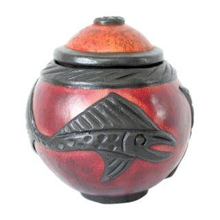 Swordfish Calabash Decorative Box (Ghana)