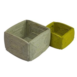 Handmade Pair of Harmony Recycled Paper Boxes (Guatemala)