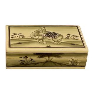 Mughal Elephant Papier Mache Box (India)