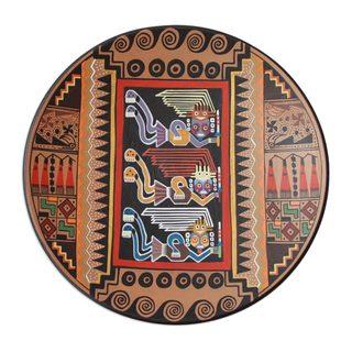 Moche Protectors Cuzco Decorative Ceramic Plate (Peru)