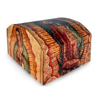 Handmade Guadalupe Mosaic Decoupage Decorative Box (Mexico)