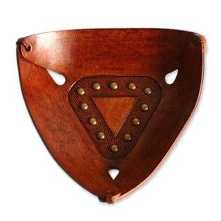 Triangular Essence Leather Centerpiece (Peru)