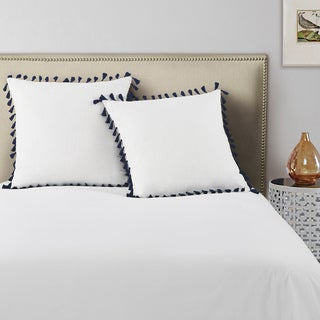 Echelon Home Tassel Euro Shams (Set of 2)