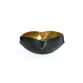 Four Edge Goldtone Brass Bowl