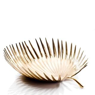 Brunei Gold Brass Palm Leaf Bowl