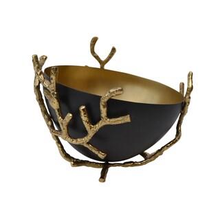 Coral Crutch Goldtone Brass Antique Bowl