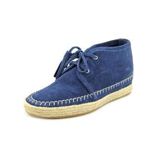 Michael Kors Women's 'Kendrick Lace Up Wedge' Blue Suede Boots