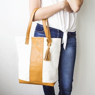Personalized Brown Faux Leather Weekender Tote|https://ak1.ostkcdn.com/images/products/13192527/P19913691.jpg?impolicy=medium