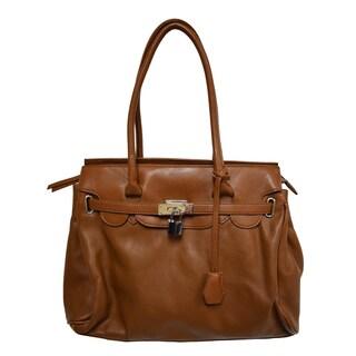 Donna Bella Designs Classic Maria Faux Leather Shoulder Bag