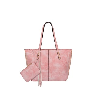 Mellow World Addison Pink Faux Leather Tote Bag