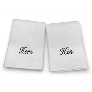 His and Hers Oversized 35 inches x 58 inches Bath Towel Set