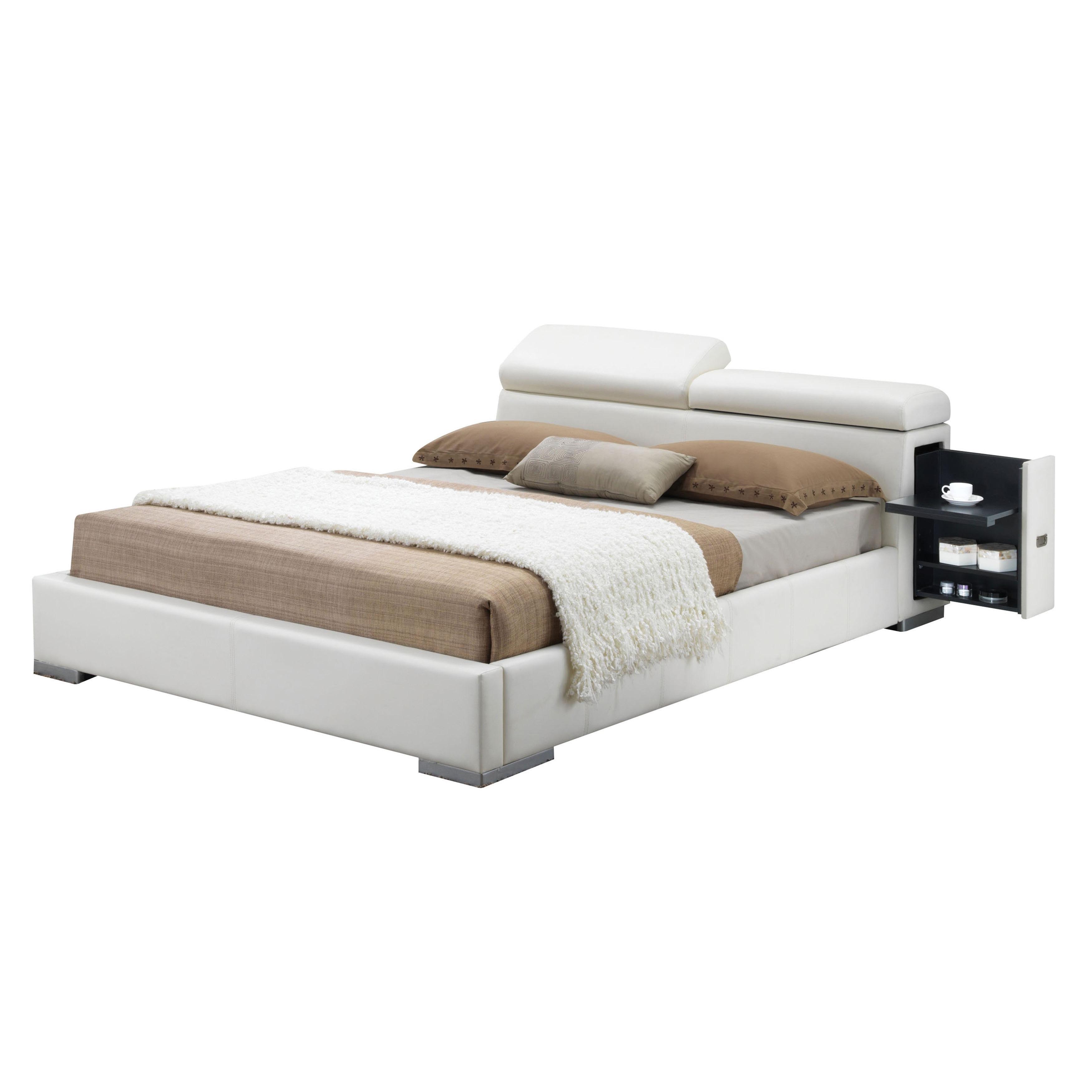 ACME Furniture Manjot Bed, White PU (King)