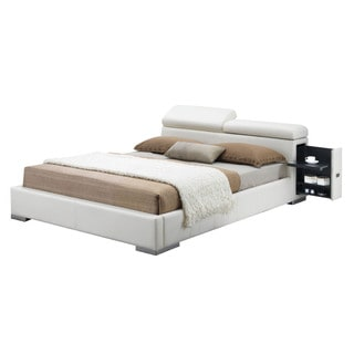 Acme Furniture Manjot Bed, White PU