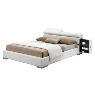 Acme Furniture Manjot Bed, White PU