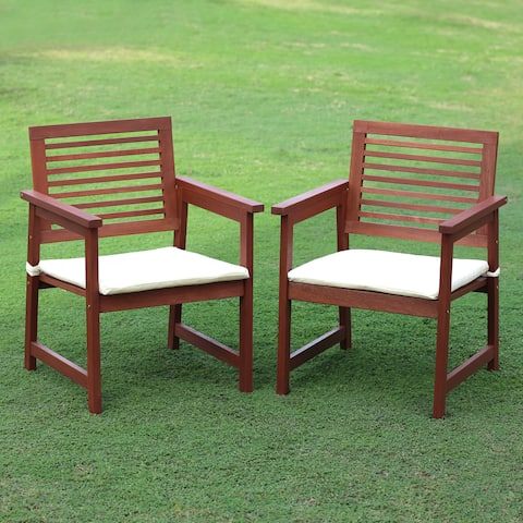 Ormond Hardwood Outdoor Armchairs with Cushion (Set of 2) by Havenside Home