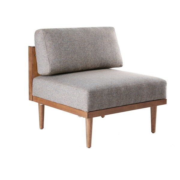 Carson Carrington Kivioli Grey/ Pecan Square Lounge