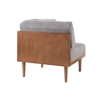 INK+IVY Stanton Grey/ Pecan Square Corner Seat