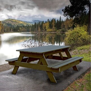 Highwood Eco-friendly Marine-grade Synthetic Wood Liberty Picnic Table