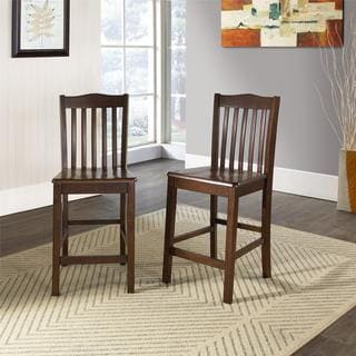 Dorel Living Brookville Set of 2 Counter Height Dining Chairs