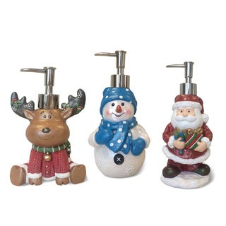 Veratex Holiday Themed Christmas Lotion Dispenser - 3 Options Available