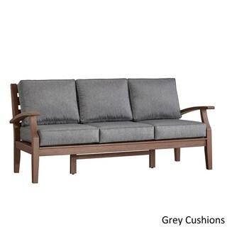 Yasawa Brown Modern Outdoor Cushioned Wood Sofa by NAPA LIVING