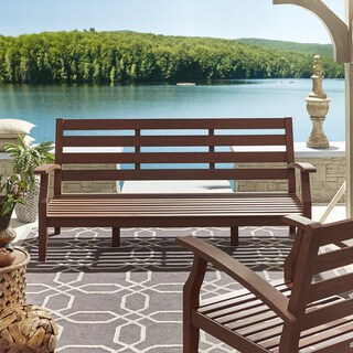 Yasawa Brown Modern Outdoor Cushioned Wood Sofa iNSPIRE Q Oasis (More options available)