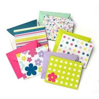 Whimsy Assorted Paper Note Card Set 100 Count