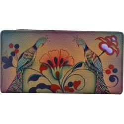 Women's ANNA by Anuschka Hand Painted Leather Two Fold Wallet 1836 Turkish Pottery