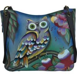 Women's ANNA by Anuschka Hand Painted Shoulder Bag 8211 Midnight Owl