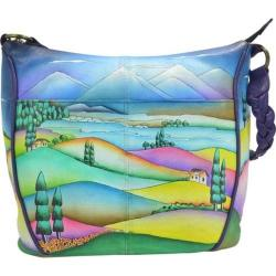 Women's ANNA by Anuschka Hand Painted Shoulder Hobo Bag 8220 Timeless Tuscany
