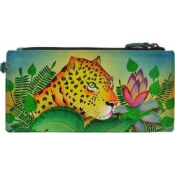 Women's ANNA by Anuschka Leather Credit Card Organizer/Wallet 1713 Jungle Leopard