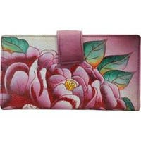 Women's ANNA by Anuschka Leather Two Fold Organizer Wallet 1833 Precious Peony