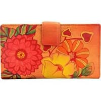 Women's ANNA by Anuschka Leather Two Fold Organizer Wallet 1833 Summer Bloom