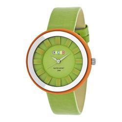 Men's Crayo Celebration Quartz Watch Green Leather/Green