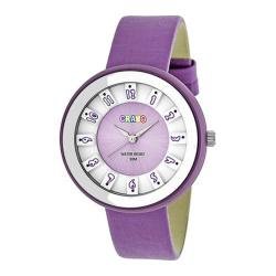 Men's Crayo Celebration Quartz Watch Lavender Leather/Lavender