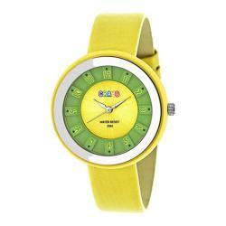 Men's Crayo Celebration Quartz Watch Yellow Leather/Yellow
