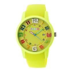 Men's Crayo Festival Quartz Watch Lime Silicone/Lime
