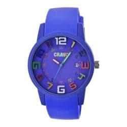 Men's Crayo Festival Quartz Watch Purple Silicone/Purple