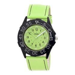 Men's Crayo Fun Quartz Watch Lime Leather/Lime