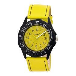 Men's Crayo Fun Quartz Watch Yellow Leather/Yellow